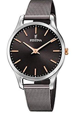 Festina Damen Analog Quarz Uhr mit Edelstahl Armband F20506/3
