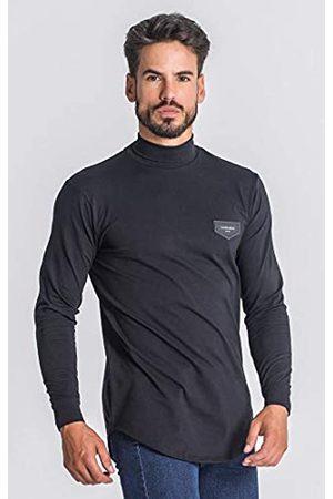 Gianni Kavanagh Herren Black Core Turtleneck Long Sleeve Tee Unterhemd