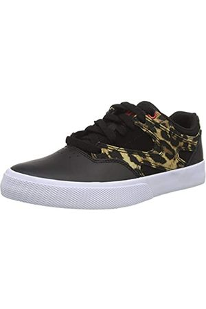 DC Damen Kalis Vulc Sneaker, Black/Leopard