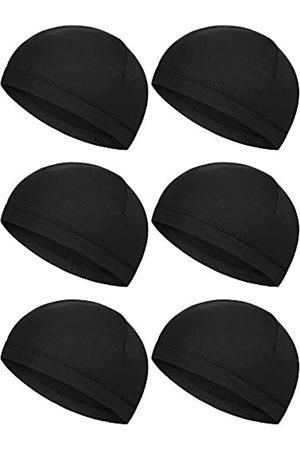 Boao Herren Caps - 6 Stück Helm-Innenkappen, Schweißableitende Kappen, Laufmützen, Radsport