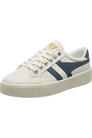 Gola Damen Baseline Mark Cox Leather Sneaker, Off White/Vintage Blue