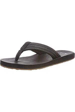 Quiksilver Herren Carver Nubuck-Sandals for Men Zehentrenner, (Solid Black Sbkm)