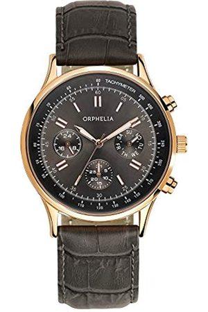 Orphelia Herren-Armbanduhr Champions League Multi Dial Quarz Leder
