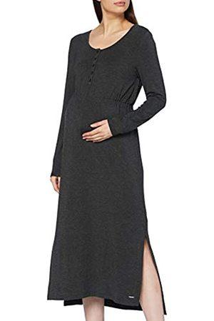 Esprit Damen Dress Nursing ls Kleid, Anthracite Melange-005