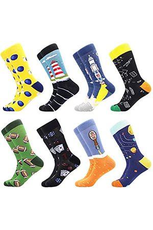 BISOUSOX Herren Socken Lustige Bunte Socken Strümpfe für Mann Gemusterte Socken Verrückte Socken Modische Mehrfarbig Klassische Strümpfe Geschenk für Männer und Freunde (Einheitsgröße)