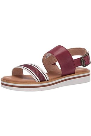 Timberland Damen Adley Shore Fabric and Leather Ankle Strap Sandale