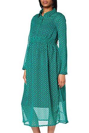 Esprit Damen Freizeitkleider - Damen Dress Maxi nurs ls AOP Kleid
