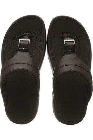 FitFlop Herren Cameron Embossed Toe-thongs Flache Sandale