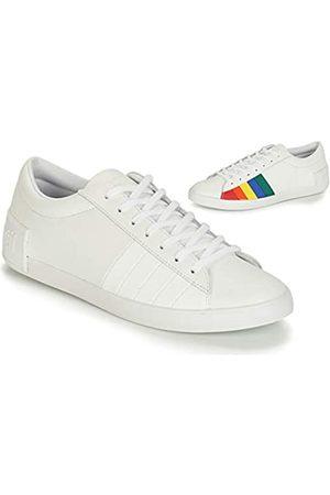Le Coq Sportif Damen Flag Sneaker, (Optical White/Multicolor Optical White/Multicolor)