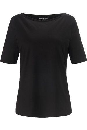 Green Cotton Damen Stiefeletten - T-Shirt U-Boot-Ausschnitt