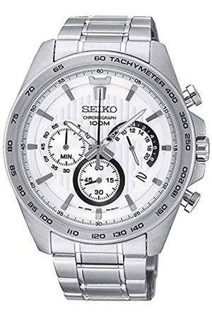 Seiko Chronograph Herren-Uhr Edelstahl mit Metallband SSB297P1