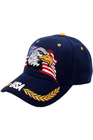 IZUS USA-Flag Eagles Hat American Baseball Cap bestickt - - Einheitsgröße