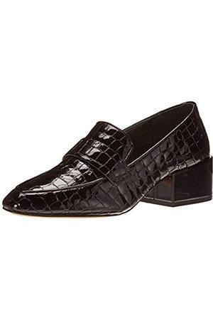 Vince Camuto Damen ADEALIA Loafer Slipper, Schwarzes Kroko-Patent