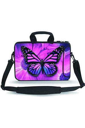 HAPPYLIVE SHOPPING Laptop-Umhängetasche aus Neopren mit verstellbarem Schultergurt und seitlicher Außentasche