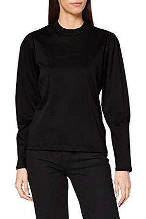Scotch&Soda Maison Womens Baumwoll-Top mit Rüschenausschnitt T-Shirt