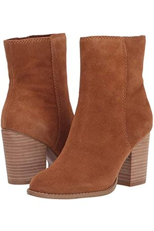 Splendid Damen Basic Above The Ankle Boot with Stacked Heel Mid Calf, (Tabak- )