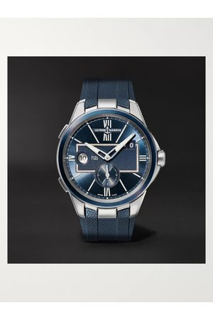Ulysse Nardin Herren Uhren - Dual Time Automatic 42mm Stainless Steel and Rubber Watch, Ref. No. 243-20-3/43