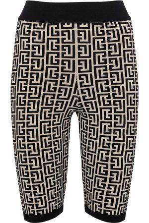 Balmain Damen Shorts - Shorts aus Jacquard-Strick