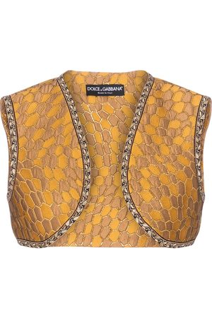 Dolce & Gabbana Damen Westen - Weste aus Brokat