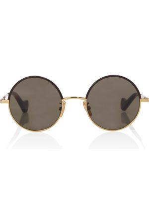 Loewe Runde Sonnenbrille mit Leder