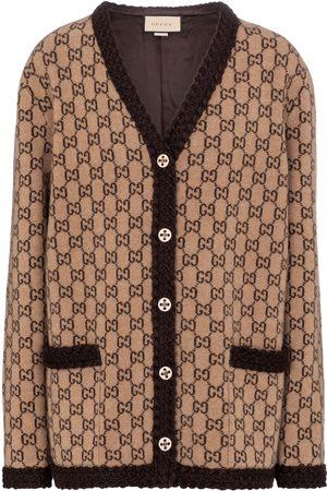 Gucci Damen Strickjacken - Cardigan GG aus Wolle