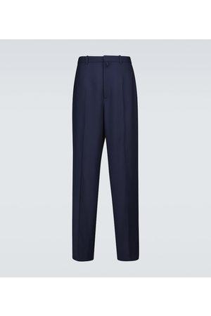Balenciaga Damen Stoffhosen - Hose aus Wolle mit Bundfalten