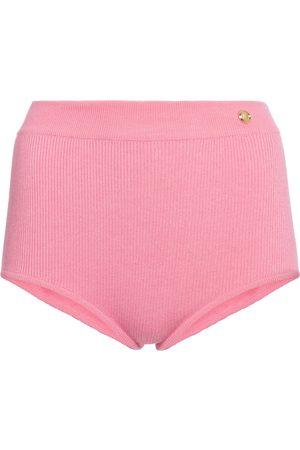 Balmain High-Rise Shorts aus Strick