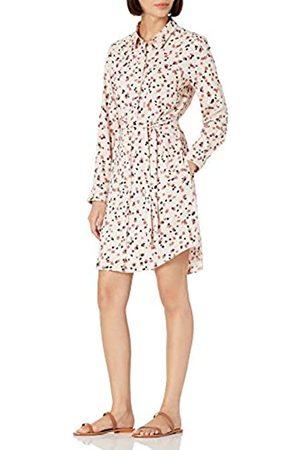 Daily Ritual Damen Longsleeves - Georgette Long-Sleeve Button Down Shirt Dress
