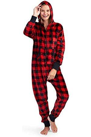 Hatley Little Blue House by Damen Adult Hooded Fleece Jumpsuit Pyjamaset