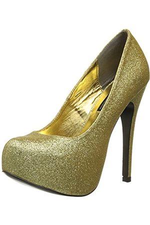 The Highest Heel The Highest Heel Women's Kissable Pump,Gold Glitter Polyurethane