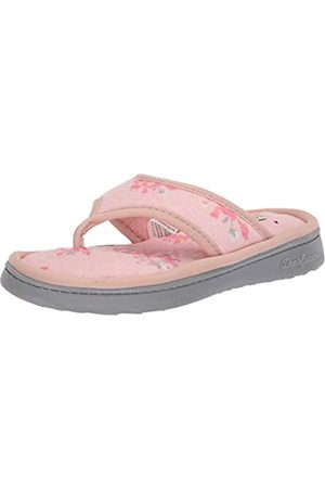 Dearfoams Damen Melanie Terry Thong with Quilted Footbed Slipper, - dusty pink