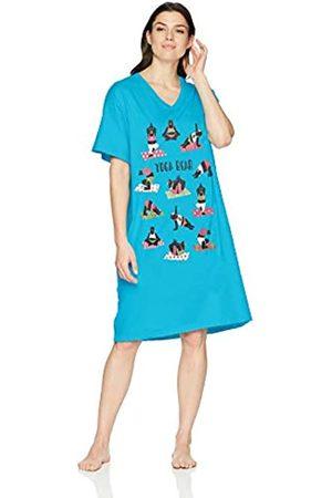 Hatley Little Blue House by Damen-Schlafshirts mit Tiermotiven - Blau - Einheitsgröße