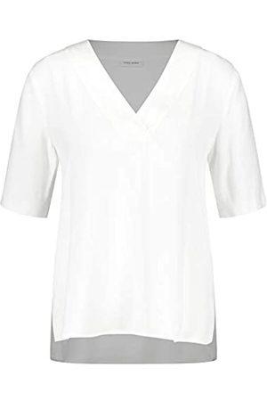 Gerry Weber Damen Blusenshirt mit V-Ausschnitt leger Off-White 48