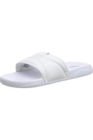 PUMA Slide Flip Flops, (White-Black)