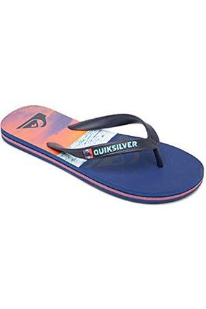Quiksilver Quiksilver Molokai Panel Youth Flip-Flop, Blue/Blue/ORANGE