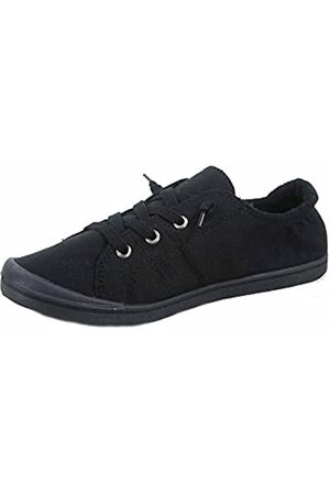 Generic Soda Zig-s Damen Causal Flacher Absatz Slip On Lace Up Look Sneaker Schuhe, ( /)