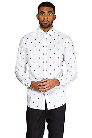 OppoSuits Weihnachten Tailliertes Hemd mit Knöpfen und langen Ärmeln für Männer