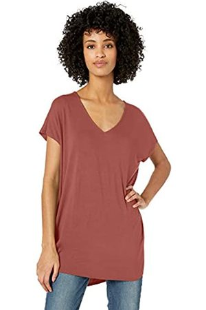 Daily Ritual Amazon-Marke: , Damen-T-Shirttunika aus Jersey, Dolman-Ärmel, V-Ausschnitt, rosa - dusty pink