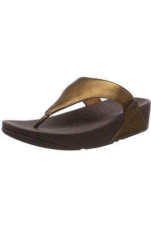 FitFlop Damen Lulu Leather Toepost Zehenstütze Sandalen, (Bronze 012)