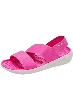Crocs Damen Literide Stretch Women Sandalen, Pink (Electric Pink/Almost White 6qv)
