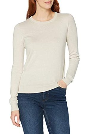MERAKI Amazon-Marke: Baumwoll-Pullover Damen mit Rundhals, (Linen), 34