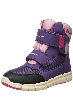 Geox Geox J FLEXYPER Girl B AB Snow Boot, Dk Violet/Pink