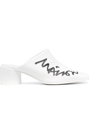 MM6 MAISON MARGIELA Mules mit Logo 50mm