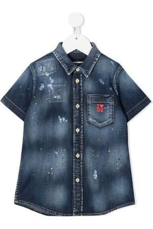 Dsquared2 Jeanshemd im Distressed-Look