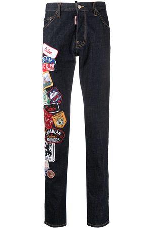 adidas Herren Slim - Slim-Fit-Jeans mit Patches