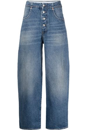 adidas Whiskering-effect buttoned jeans