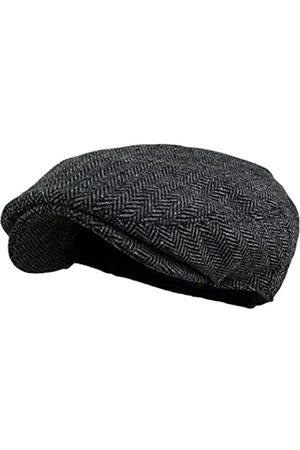 Wonderful Fashion Wonderful Fashion Klassischer Herringbone Tweed Newsboy Efeu Hut (Large/X-Large