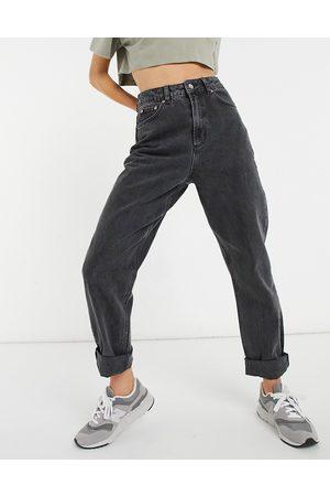 adidas – Slouchy – Locker sitzende Mom-Jeans in verwaschenem
