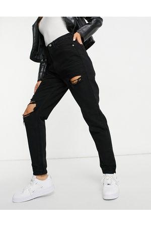 adidas Damen Baggy & Boyfriend - – Riot – Mom-Jeans mit Rissen am Oberschenkel in