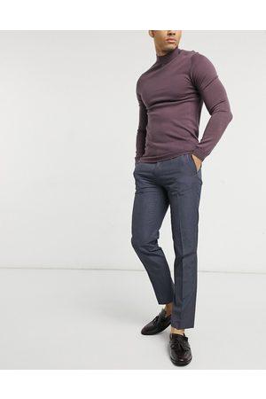 adidas – Schmal geschnittene, elegante Hose in Marineblau